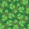 St. Patrick's day pattern with clover in vector