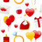 Valentine s Day Icons Seamless Pattern
