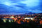 Russia. Pyatigorsk. View of the evening city and mount Mashtuk