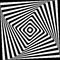 Abstract Square Spiral Black and White Pattern