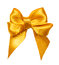 Golden bow, ribbon