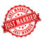 Just married vector stamp