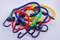Blue, Red, Yellow, and Green Bungee Cords