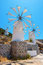 Windmills. Crete, Greece