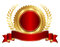 Gold and red seal with ribbon