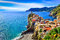 View of colorful village Vernazza in Cinque Terre