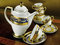 Set of antique tea and coffee cups