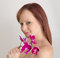 Red Haired Woman with Orchid