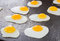Fried Quail Eggs Cooking On Frying Pan, Thai Style Snack, Thaila