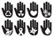 Conceptual Hand Symbols Illustration