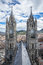 Two steeples of the Basilica of Quito