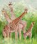 Original painting of beautiful Giraffes at Masai Mara National Park