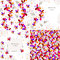 Set of 2 floral seamless patterns and 2 cards