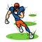 American Football Player Cartoon With Big Muscle