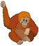 Cartoon animal - orangutan - illustration for the children