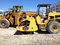Asphalt roller machine construction site