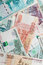 Russian money. Rubles banknotes closeup photo texture