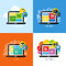 Flat vector concepts of web design, business, social media, SEO