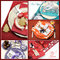 Multi holiday dining table place settings collage