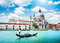 Scenic postcard view of Venice, Italy