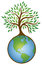 Earth Tree Graphic Logo