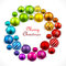 Christmas wreath of colored balls