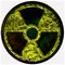 Radiation sign, symbol nuclear isolated