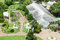 Aerial view of a botanical garden with tree in lakeland, Florida