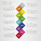 Flat colorful abstract timeline infographics vector illustration