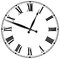 Antique Vintage Clock Face Isolated
