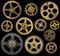 Clock Cogs Isolated on Black