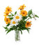 Bouquet of wild flowers in a vase.