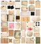 Aged paper sheets, books, pages and old postcards isolated on wh