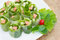 Fresh Spring roll food with vegetable,sausage