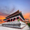 Beautiful chinese temple against dusky sky use for china ,east a