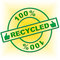 Hundred Percent Recycled Indicates Go Green And Absolute
