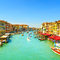 Venice grand canal or Canal Grande, view from Rialto bridge. Italy