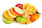 Mixed fruit slices,Fresh Fruit Salad,Apple pear orange and green apple