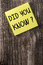Did You Know Yellow Sticky Note Post It