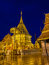Doi Suthep temple at twilight, landmark of Chiang Mai, Thailand