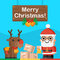 Santa Claus and reindeer Christmas concept