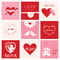Set of Love Cards for Valentine's Day