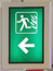 Emergency Fire Exit Sign in Green color