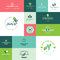 Set of modern flat design beauty and nature icons