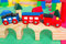 Small colorful toy train