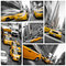 Yellow taxis collage, New York