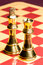Brass Chess Queen and King