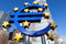 Euro sign at European Central Bank headquarters in Frankfurt, Germany