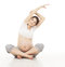 Pregnant Woman Yoga Exercising. Pregnancy Prenatal Health Care