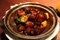 Delicious pork with chestnuts, China